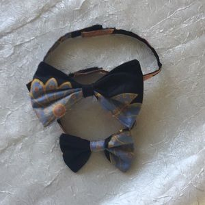 African theme Father and son matching bow ties!